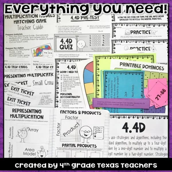 4 4(D) Multiplying 2-digit by 2-digit numbers! Including the standard  algorithm, partial products, and more! TEKS 4 4D