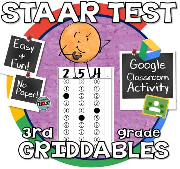 3rd Grade Math STAAR Practice Griddables (Bubble Sheet ...