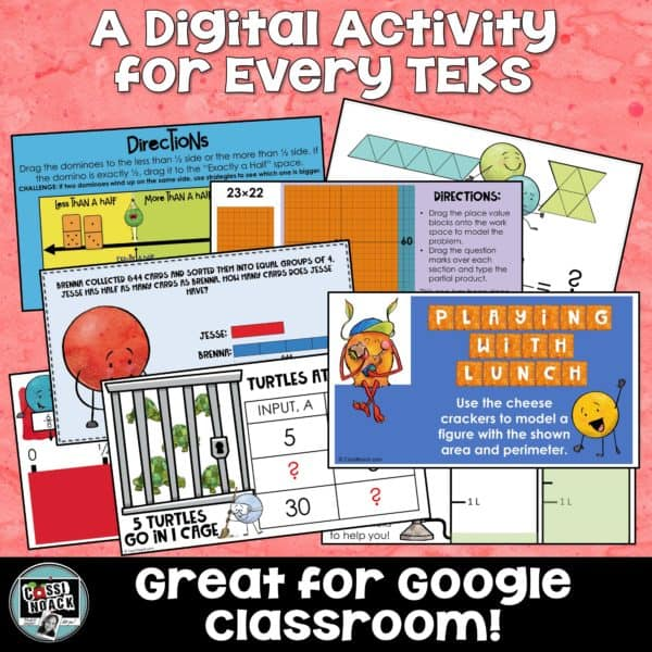 Digital Activities Great for Google Classroom for the WHOLE year! 4th Grade  Math